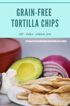 Tortilla Chips – The Autoimmune Isomniac - Grain-free Tortilla Chips are AIP and Paleo compliant. They're delicious and easy to make. Pin no - Paleo Dessert, Paleo Appetizers, Aip Diet, Tortilla Chips, Healthy Snacks, Diet Snacks, Grain Free, Gluten Free Recipes, Food Processor Recipes