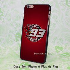 Coque Marc Marquez logo red Pattern hard black Case Cover for iPhone 4 4s 5 5s 5c 6 6s 6 Plus 6s Plus