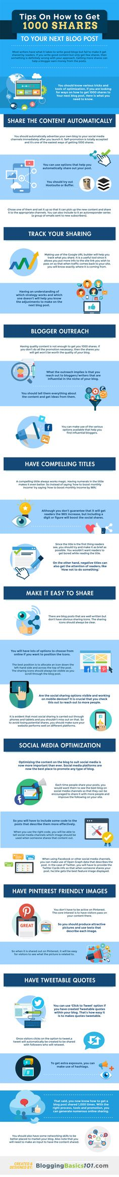 How to Get 1000 Shares on Your Next Blog Post [Infographic] - @redwebdesign