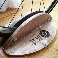 Items similar to Maple- Wood Bike Stand on Etsy Bike Stand Diy, Diy Bike Rack, Bicycle Stand, Bin Shed, Range Velo, Easy Woodworking Ideas, Wood Bike, Lowrider Bike, Man Cave Home Bar