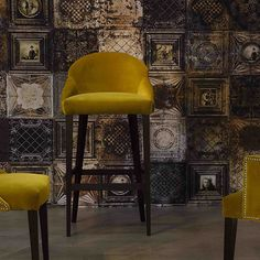 Traditional bar chair / upholstered / fabric / beech PARIS/B-1 by Guion Contractin srl