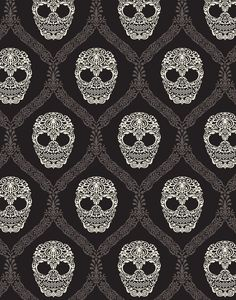 Skull Damask by Michael Miller. My next gelaskin!