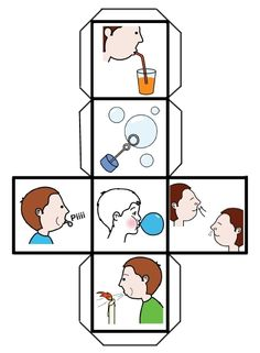 SOPLO - Dado de soplo More Oral Motor Activities, Speech Therapy Activities, Sensory Activities, Classroom Activities, Preschool Activities, Apraxia, Speech Language Pathology, Speech And Language, Respiration Relaxation