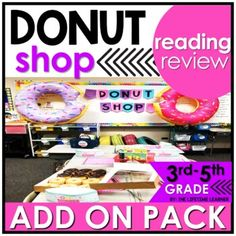 You donut have to stress with this cool reading classroom transformation ADD ON PACK! You're now in charge of a donut shop and have to complete orders for customers. Use this fun doughnut themed pack of reading skills to spiral review other skills during your room transformation! A digital version i...