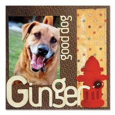 Good Dog Scrapbook Page