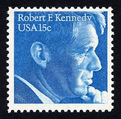 Robert Kennedy stamp, issued in 1979 Los Kennedy, Robert Kennedy, Old Stamps, Vintage Stamps, Commemorative Stamps, Going Postal, Envelope Art, Stamp Collecting, Stamps