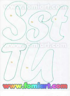 Alphabet Stencils, Alphabet Art, Monogram Alphabet, Alphabet Fonts, 3d Letters, Letters And Numbers, Felt Name, Silhouette Online Store, Beautiful Notes