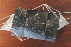 modern geometric invitation