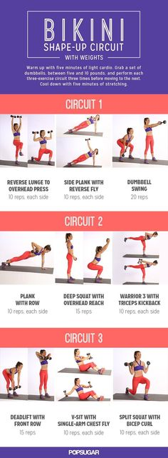 Bikini Shape Up Circuit with Weights #strong #fitness #weightlossbeforeandafter