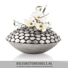 Pebble vaas rond van Youniq decorations! Leuk in vintage stijl