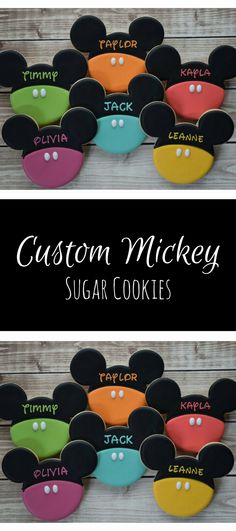 Mickey Mouse Cookies, Minnie Mouse Cookies, Disney Cookies, Mickey Favors, Birthday Cookies #affiliate Crazy Cookies, Fancy Cookies, Iced Cookies, Cute Cookies, Cupcake Cookies, Sugar Cookies, Cute Cupcakes, Mickey Mouse Cookies, Disney Cookies