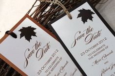 Fall Wedding Save the Date Autumn Wedding by decadentdesigns, $3.00