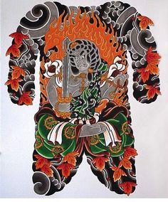 Artist: Goshu Dan Japanese Tattoo Art, Japanese Tattoo Designs, Japanese Sleeve Tattoos, Japanese Art, Fu Dog, Traditional Japanese Tattoos, Asian Tattoos, Japan Tattoo, Oriental Tattoo