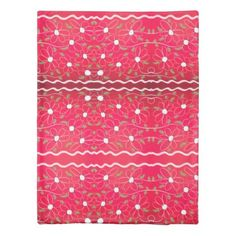 Pink And Red Flowered Reversible Duvet Cover - red gifts color style cyo diy personalize unique