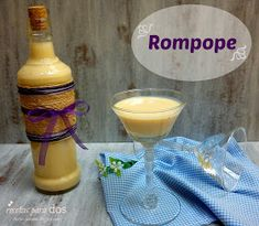 Recipes for Two: Recycle and Reuse Glass Bottles Pisco Sour, Fun Drinks, Yummy Drinks, Beverages, Mexican Drinks, Mexican Food Recipes, Spanish Recipes, Pineapple Dessert Recipes, Gastronomia