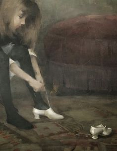 """lavandula: """" detail of dancing shoes by helene schjerfbeck """" Helene Schjerfbeck, Magic Realism, Realism Art, Spanish Artists, Dutch Artists, Expressionist Artists, Oil Painting Techniques, 17th Century Art, Art Society"""