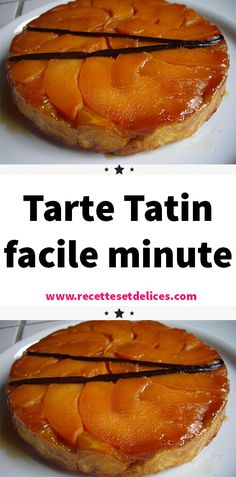 You only have a short time to make a dessert that will please all taste buds? This simple recipe for a tarte tatin minute will simplify your life and allow you to make a tasty dessert without stressing yourself out. French Desserts, Köstliche Desserts, Spaghetti Eis Dessert, Sweet Recipes, Cake Recipes, Yummy World, Quiches, Hot Dog Buns, Crackers
