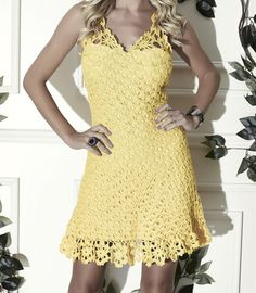 Here's how to make a beautiful spring crochet dress pattern free | Crochet Dress, Free Pattern, Graphic, Diagram, Yarn Crochet, Crochet Inspirations.