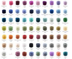 Cotton Candy yarn color chart from be sweet