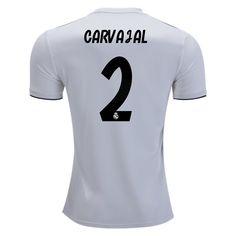 18 19 Dani Carvajal Jersey Number 2 Home Men s Replica Real Madrid Team  Real Madrid 3c4e79760