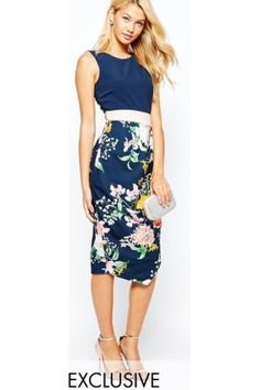 Jurken - Closet 2 In 1 Contrast Midi Dress