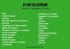 21 day fix green cup what to eat - Google Search