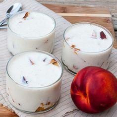 Nectarine Buttermilk Panna Cotta, a fantastic naturally gluten free, no-bake, refreshing summer dessert.