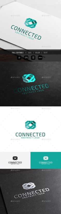 Abstract Connect - Link Technology Logo Template Vector EPS, AI #design…