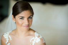 Elegant wedding day hair and makeup - elegant low chignon + dewey bronzed makeup {Kristen Jane Photography}