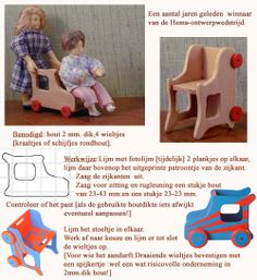 MINIDESIGN: Stool and car for child's nursery - The Netherlands