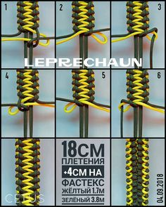 from - Leprechaun/Лепрекон. Paracord Bracelet Instructions, Paracord Bracelet Designs, Paracord Tutorial, Paracord Bracelets, Bracelet Tutorial, Knot Bracelets, Survival Bracelets, Paracord Weaves, Paracord Braids