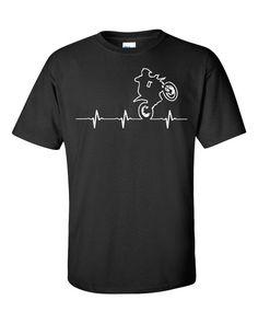 ae9ec3b0 Moto Cross In My Heartbeat Cool Unisex Adult T-Shirt Dirt Bike Tee Dirt  Bike Gift Moto Cross Ride Dirt Bike Fun