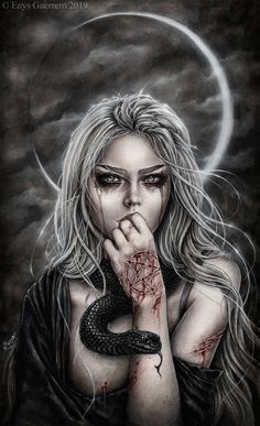 Want to discover art related to astral? Check out inspiring examples of astral artwork on DeviantArt, and get inspired by our community of talented artists. Dark Gothic Art, Gothic Fantasy Art, Fantasy Art Women, Fantasy Demon, Creation Art, Luis Royo, Vampire Art, Dark Art Drawings, Beautiful Fantasy Art