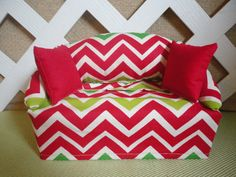 Christmas Tissue Box Cover in Sofa Shape Red by JRsPillowsandBags, $20.00