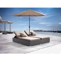 Zuo Atlantic Double Espresso Chaise Lounge (Atlantic Double Chaise... ($1,798) ❤ liked on Polyvore featuring home, outdoors, patio furniture, outdoor loungers & day beds, brown, outdoor patio furniture, outdoor patio chaise lounge, aluminum chaise lounge, outdoor patio chaise lounge chairs and patio chaise lounge chairs
