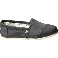 TOMS Women's Classics Shoe ($48) ❤ liked on Polyvore featuring shoes, toms, ash canvas, toms footwear and toms shoes