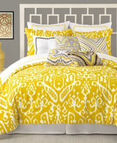 Trina Turk Ikat // #yellow #bedroom #decor #homedecor #interior #interiordesign #room #beautiful