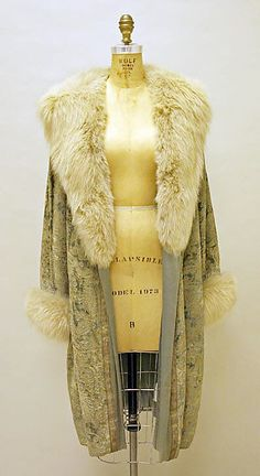 Coat, Evening  House of Lanvin  (French, founded 1889)  Designer: Jeanne Lanvin (French, 1867–1946) Date: 1926