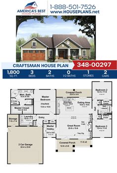 Covered in charming Craftsman details, Plan 348-00297 offers 1,800 sq. ft., 3 bedrooms, 2 bathrooms, a covered porch, a media room, and a kitchen island, Find more information about this Craftsman design on our website. Craftsman Style Homes, Craftsman House Plans, Types Of Foundation, Floor Plan Drawing, Electrical Plan, Cost To Build, Architectural Elements, Building Materials, Square Feet