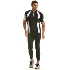 Insta Slim Men's Compression Bike Jacket (Small, Black/)