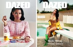 Nicki Minaj double cover for Dazed's A/W 2014 issue