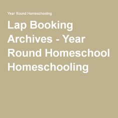 Lap Booking Archives - Year Round Homeschooling