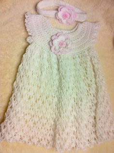 Baby Dress, crochet baby dress, Girls crochet dress..maybe?