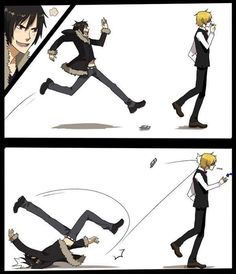 Durarara!! / One of these days, Izaya's going to just get too excited about fighting Shizuo and do something stupid (like this).