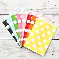 Polka Dot Paper Bags | Little Ink | Packaging Supplies | Baking Supplies | Craft Supplies | Party Supplies