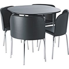 Buy Hygena Amparo Black Dining Table and 4 Black Chairs at Argos.co.uk - Your Online Shop for Dining sets.