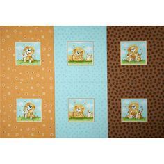 """Lyon Pillow Panel Multi from @fabricdotcom  Designed by Susybee for Hamil Textiles, this cotton panel is perfect for quilting, apparel and home décor accents. Colors include golden brown, white, black, green, blue, and orange. Sold only by the panel, which measures 36"""" x 44"""""""