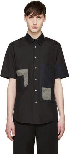 89de70fae3d JIL SANDER Black Patchwork Shirt.  jilsander  cloth  shirt Jil Sander