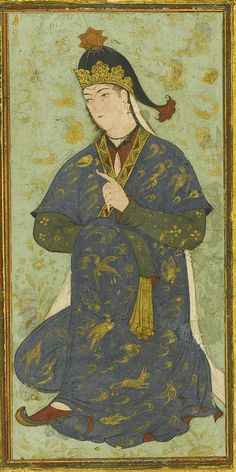A Seated Princess, Persia, Safavid, probably Herat, first half 16th century | Lot 131 | Sotheby's. Arts of the Islamic World. 22 APRIL 2015 | 10:30 AM BST | LONDON
