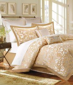Sophisticated Master Bedroom Cordova Gold Comforter Set Bedding Blush Crib